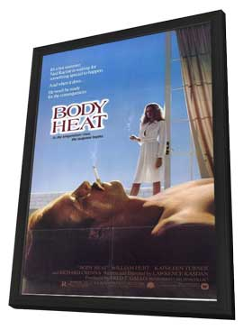 Body Heat - 11 x 17 Movie Poster - Style B - in Deluxe Wood Frame