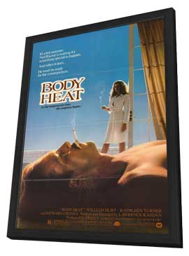 Body Heat - 27 x 40 Movie Poster - Style B - in Deluxe Wood Frame