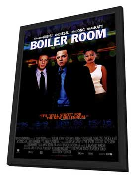 Boiler Room - 11 x 17 Movie Poster - Style B - in Deluxe Wood Frame