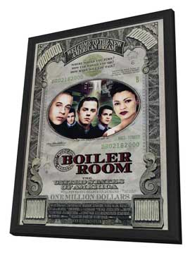 Boiler Room - 27 x 40 Movie Poster - Style A - in Deluxe Wood Frame