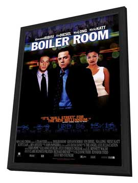 Boiler Room - 27 x 40 Movie Poster - Style B - in Deluxe Wood Frame