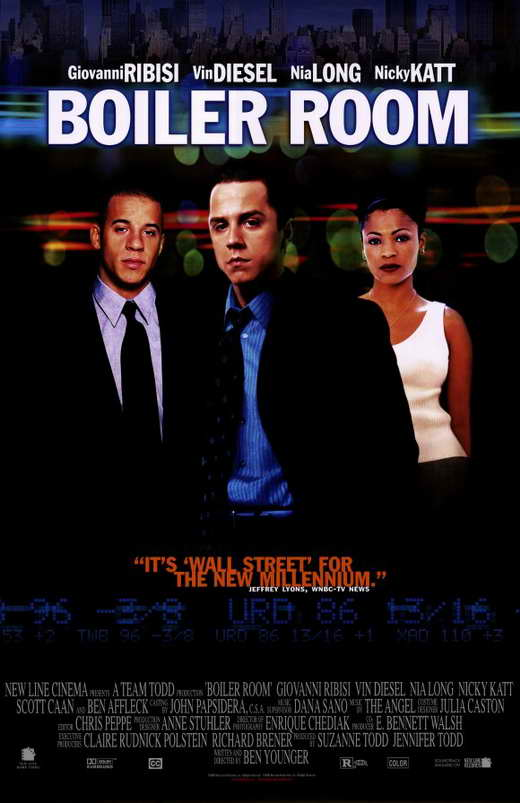 a question of money and morals in the movie boiler room The movieboiler room is one such example of these opportunists taking advantage of others the movie focuses around the main character, seth davis, a young man who has made thousands of dollars running an underground casino out of his house.