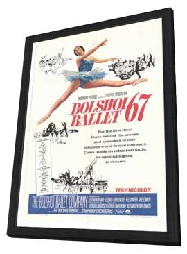 Bolshoi Ballet - 11 x 17 Movie Poster - Style A - in Deluxe Wood Frame