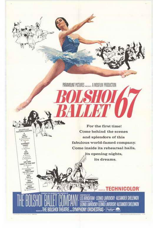 Ballet Poster Mini Posters Bolshoi Ballet