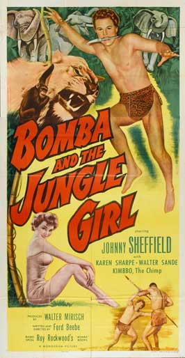 Bomba and the Jungle Girl - 11 x 17 Movie Poster - Style B
