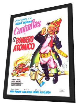 Bombero at�mico, El - 11 x 17 Movie Poster - Mexican Style A - in Deluxe Wood Frame