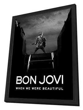 Bon Jovi: When We Were Beautiful - 27 x 40 Movie Poster - Style A - in Deluxe Wood Frame