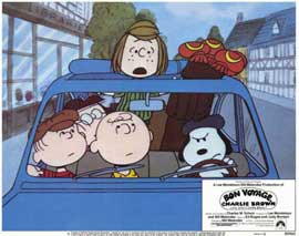 Bon Voyage Charlie Brown - 11 x 14 Movie Poster - Style D