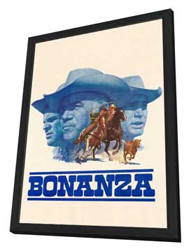 Bonanza - 27 x 40 TV Poster - Style A - in Deluxe Wood Frame