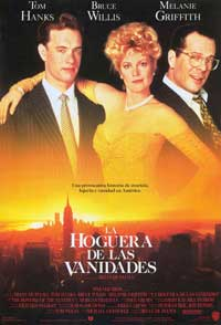 The Bonfire of the Vanities - 27 x 40 Movie Poster - Spanish Style A