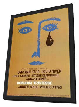 Bonjour Tristesse - 27 x 40 Movie Poster - Style A - in Deluxe Wood Frame