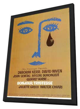 Bonjour Tristesse - 11 x 17 Movie Poster - Style A - in Deluxe Wood Frame