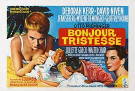 Bonjour Tristesse - 11 x 17 Movie Poster - Belgian Style A