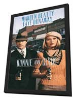 Bonnie & Clyde - 11 x 17 Movie Poster - Style E - in Deluxe Wood Frame