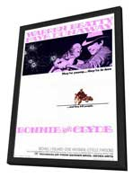 Bonnie & Clyde - 27 x 40 Movie Poster - Style A - in Deluxe Wood Frame