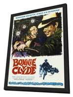 Bonnie & Clyde - 27 x 40 Movie Poster - Spanish Style A - in Deluxe Wood Frame