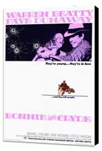 Bonnie & Clyde - 27 x 40 Movie Poster - Style A - Museum Wrapped Canvas