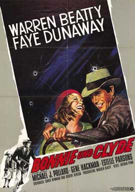 Bonnie & Clyde - 11 x 17 Movie Poster - German Style A