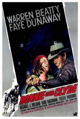 Bonnie & Clyde - 27 x 40 Movie Poster - German Style A