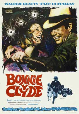Bonnie & Clyde - 11 x 17 Movie Poster - Spanish Style A
