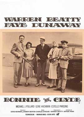 Bonnie & Clyde - 11 x 17 Movie Poster - Danish Style A
