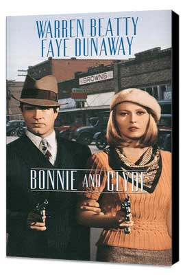 Bonnie & Clyde - 11 x 17 Movie Poster - Style E - Museum Wrapped Canvas