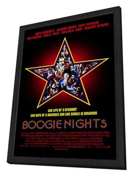 Boogie Nights - 27 x 40 Movie Poster - Style A - in Deluxe Wood Frame
