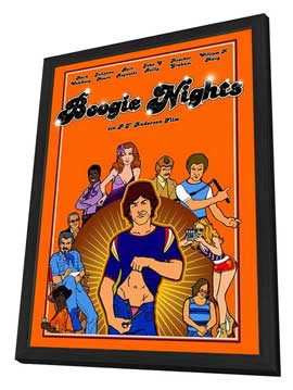 Boogie Nights - 27 x 40 Movie Poster - German Style A - in Deluxe Wood Frame