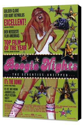 Boogie Nights - 11 x 17 Movie Poster - Style B - Museum Wrapped Canvas