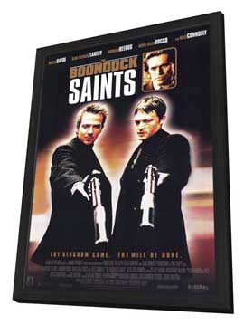 Boondock Saints - 11 x 17 Movie Poster - Style B - in Deluxe Wood Frame