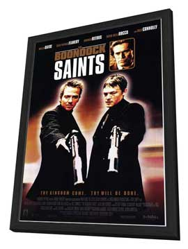 Boondock Saints - 27 x 40 Movie Poster - Style B - in Deluxe Wood Frame