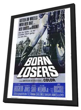 Born Losers - 11 x 17 Movie Poster - Style B - in Deluxe Wood Frame