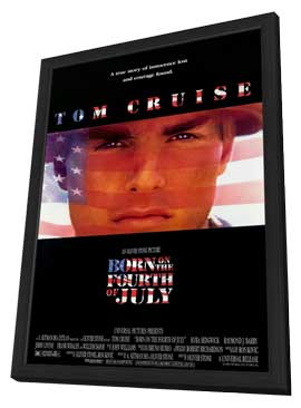Born on the Fourth of July - 11 x 17 Movie Poster - Style A - in Deluxe Wood Frame