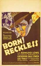 Born Reckless - 11 x 17 Movie Poster - Style A