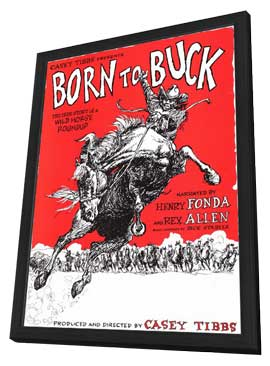 Born to Buck - 11 x 17 Movie Poster - Style A - in Deluxe Wood Frame