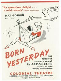 Born Yesterday (Broadway) - 11 x 17 Poster - Style A