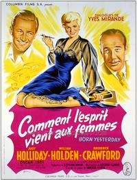 Born Yesterday - 27 x 40 Movie Poster - French Style A
