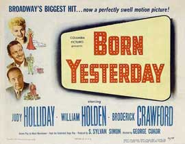 Born Yesterday - 11 x 14 Movie Poster - Style B