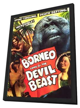 Borneo - 11 x 17 Movie Poster - Style B - in Deluxe Wood Frame