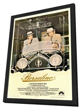 Borsalino - 11 x 17 Movie Poster - Style A - in Deluxe Wood Frame
