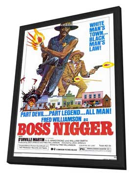 Boss Nigger - 11 x 17 Movie Poster - Style A - in Deluxe Wood Frame