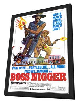 Boss Nigger - 27 x 40 Movie Poster - Style A - in Deluxe Wood Frame
