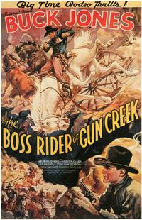 Boss Rider of Gun Creek - 43 x 62 Movie Poster - Bus Shelter Style A