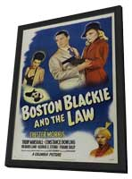 Boston Blackie and the Law - 11 x 17 Movie Poster - Style A - in Deluxe Wood Frame