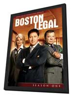 Boston Legal - 27 x 40 TV Poster - Style L - in Deluxe Wood Frame