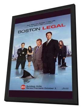 Boston Legal - 11 x 17 TV Poster - Style A - in Deluxe Wood Frame