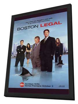 Boston Legal - 27 x 40 TV Poster - Style A - in Deluxe Wood Frame
