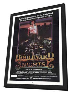 Boulevard Nights - 11 x 17 Movie Poster - Style A - in Deluxe Wood Frame