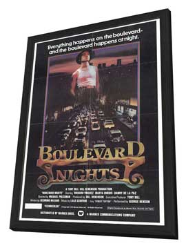 Boulevard Nights - 27 x 40 Movie Poster - Style A - in Deluxe Wood Frame