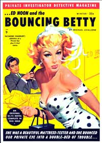 Bouncing Betty - 11 x 17 Retro Book Cover Poster